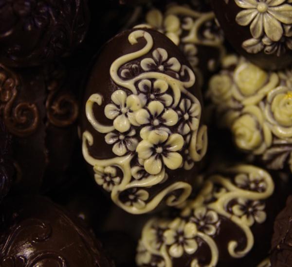 čokoládová Velikonoční vajíčka